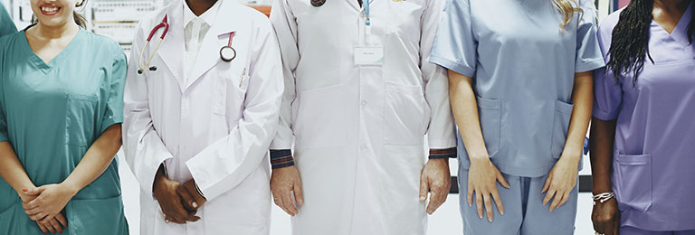 Group of medical professionals at the ICU